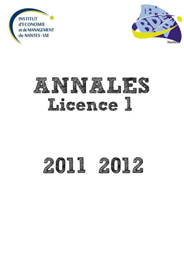 2011 2012 L1 semestre 1