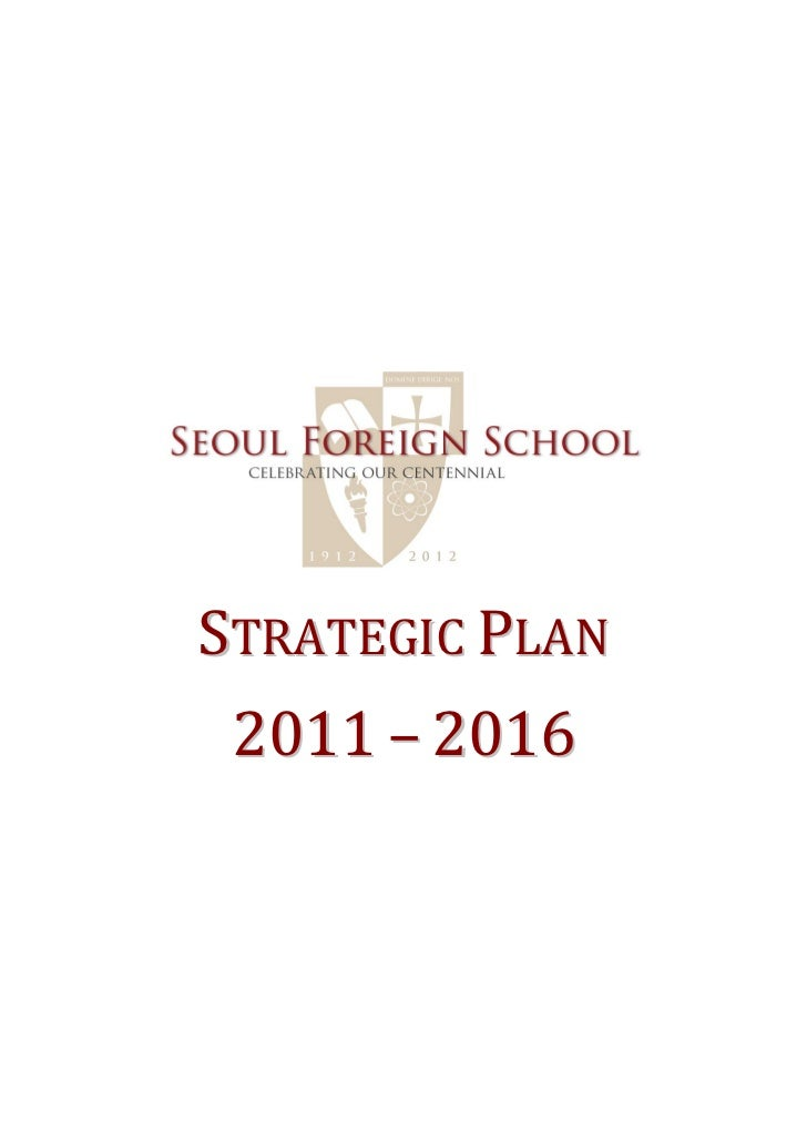 STRATEGIC PLAN 2011 – 2016