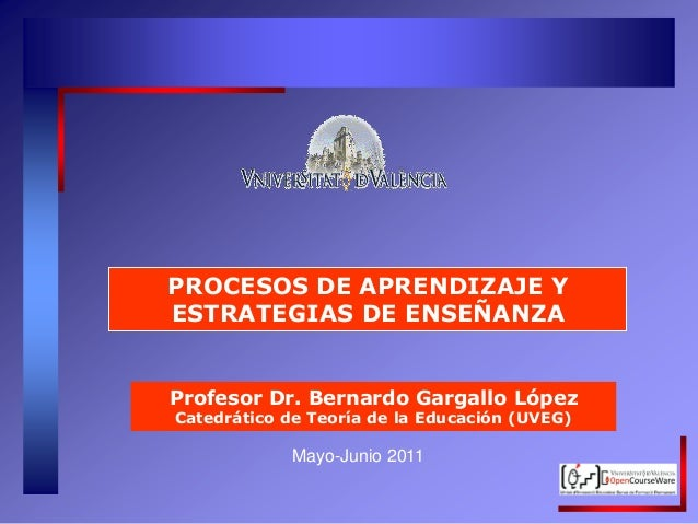 Procesos de Aprendizaje y Estrategias de Enseñanza