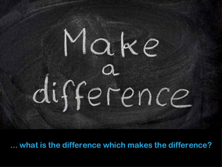 make the difference - example of nobuu design