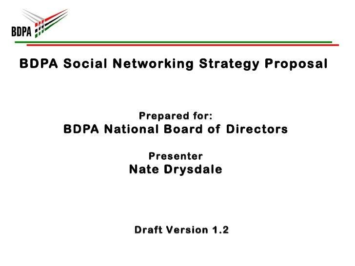 BDPA Social Networking Strategy (Aug 2011)