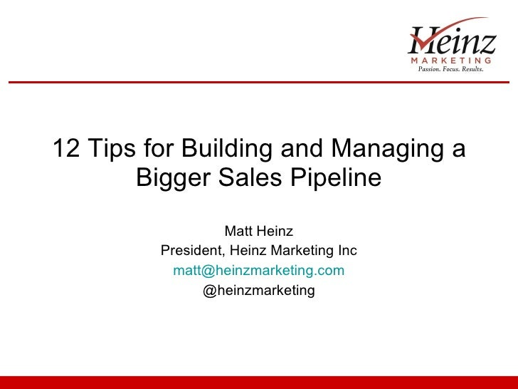 12 Tips for Building & Managing a Bigger Sales Pipeline