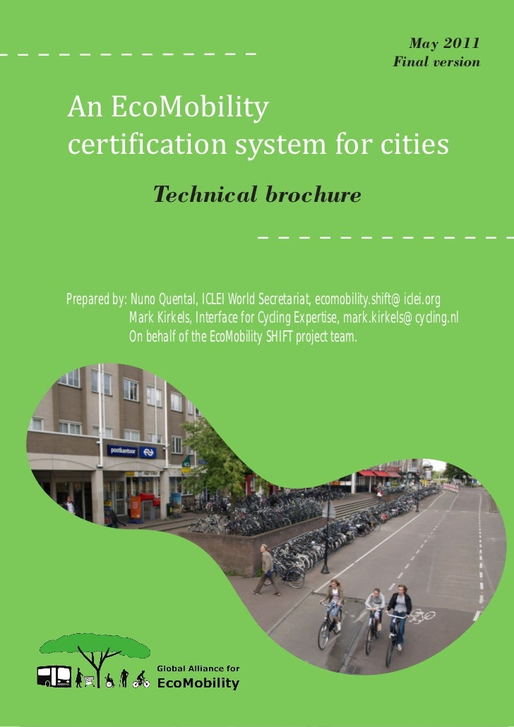 An EcoMobility certification system for cities