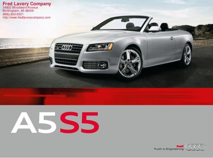 2011 Audi S5 Detroit MI | Fred Lavery Company