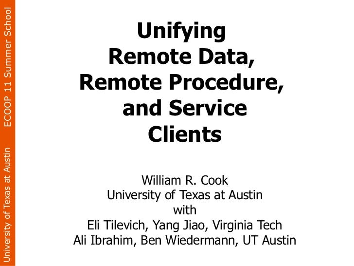 Unifying Remote Data, Remote Procedure, and Service Clients