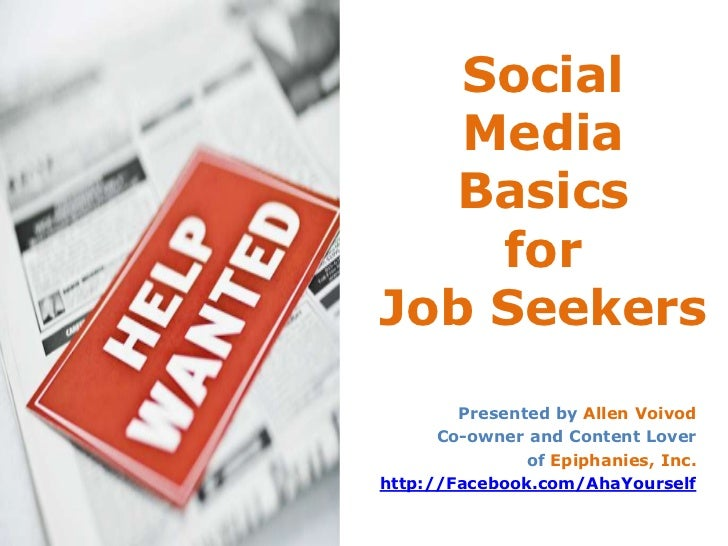 Social Media Basics for Job Seekers