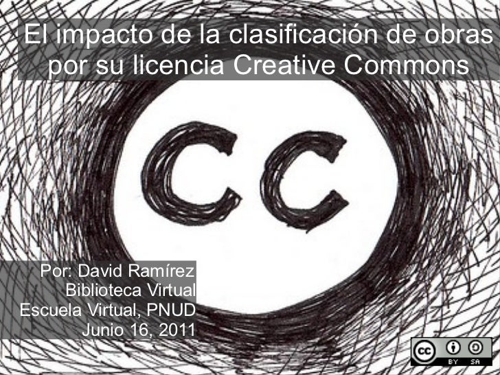 El impacto de la clasificación de obras por su licencia Creative Commons