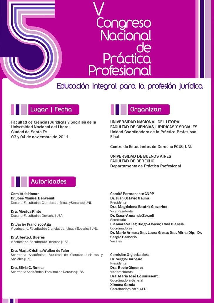 2011   congreso de practica profesional 2da circular