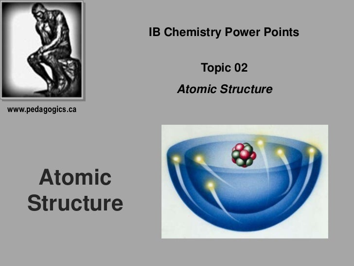 IB Chemistry Power Points<br />Topic 02<br />Atomic Structure<br />www.pedagogics.ca<br />Atomic Structure<br />