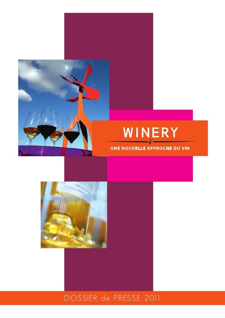 Dossier presse La Winery