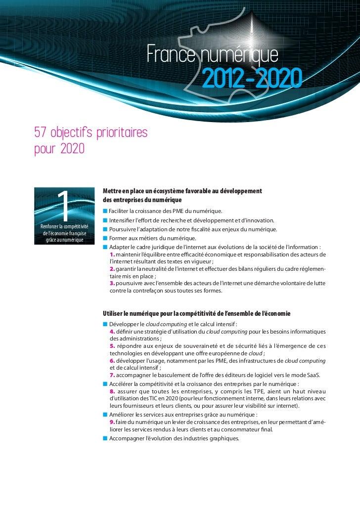 France numérique                                                                       2012-202057 objectifs prioritairesp...