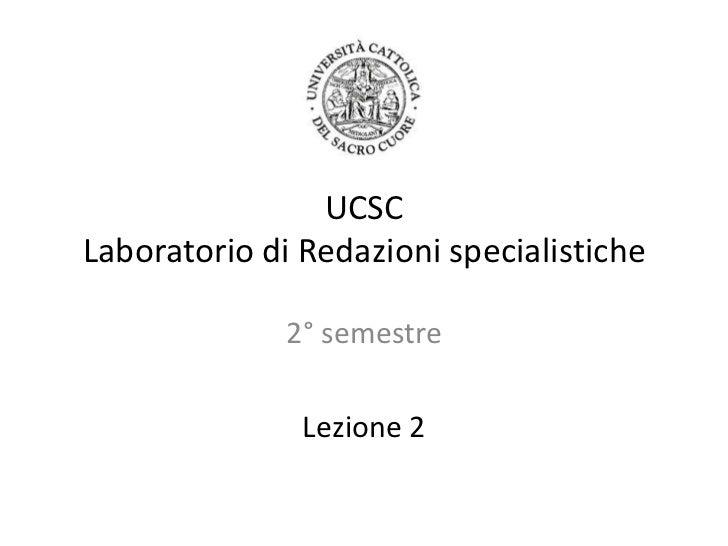 Laboratorio di redazioni specialistiche 2011 - 2
