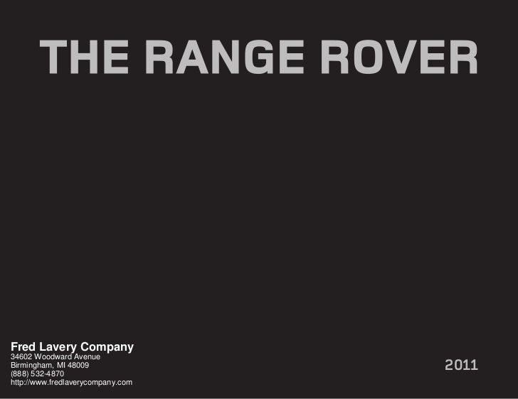 2011 Land Rover Range Rover Detroit MI | Fred Lavery Company