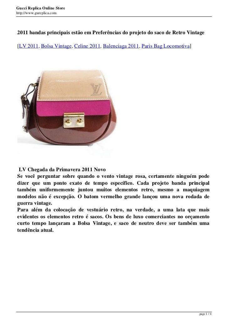 Gucci Replica Online Storehttp://www.gureplica.com2011 bandas principais estão em Preferências do projeto do saco de Retro...