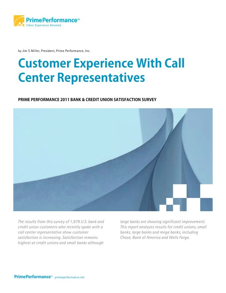 Prime Performance: 2011 Customer Experience With Bank Call Centers
