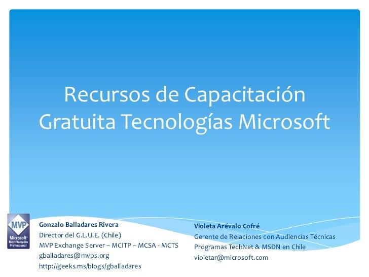 Recursos de capacitación gratuita Microsoft