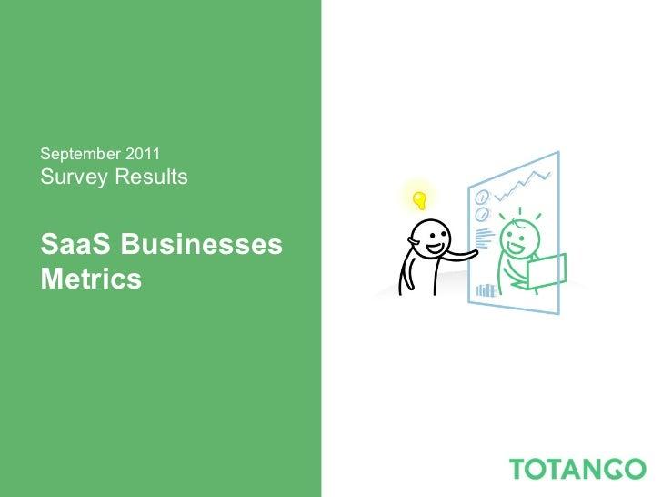 September 2011Survey ResultsSaaS BusinessesMetrics