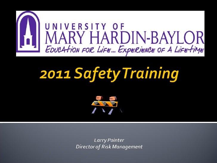 2011 Safety Training