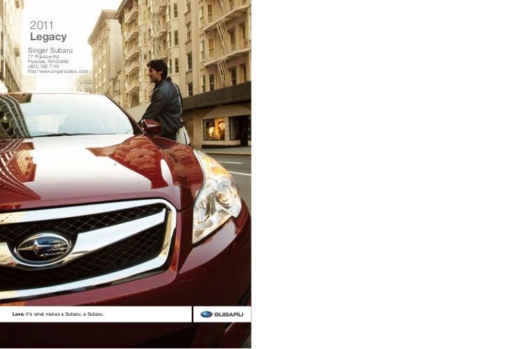 2011 Subaru Legacy For Sale Near Manchester NH | Singer Subaru