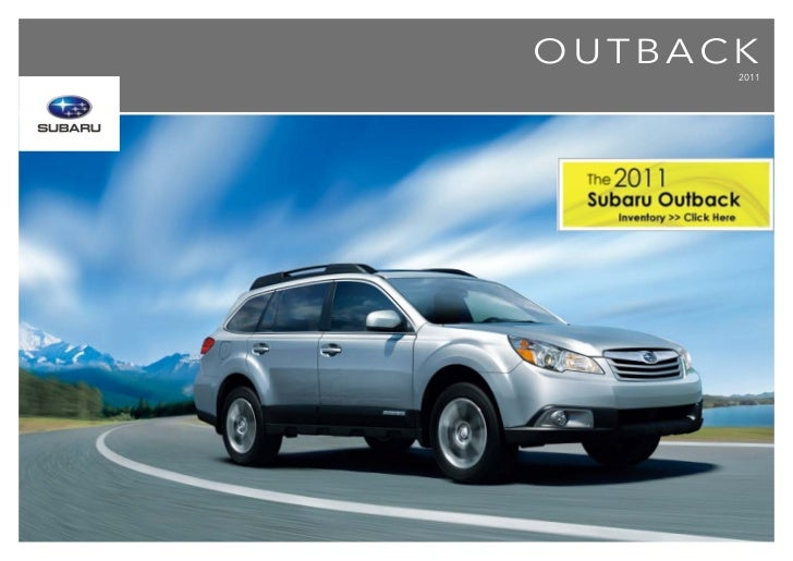 2011 Subaru Outback inAlberta | Brochure | Subaru of Lethbridge