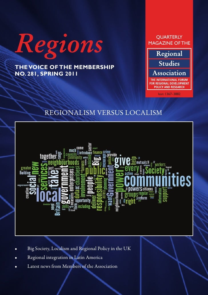 2011 The regional lacuna: a preliminary map of the transition from Regional Development Agencies to Local Economic Partnerships - Pugalis