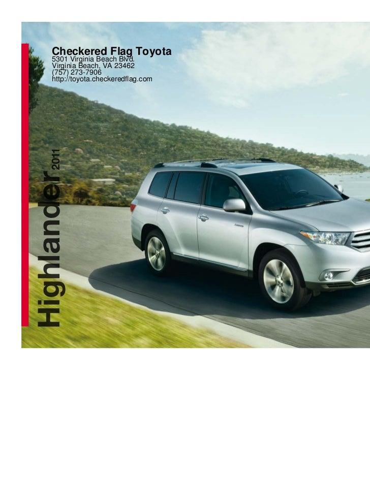 2011 Toyota Highlander For Sale In Virginia Beach VA | Checkered Flag Toyota