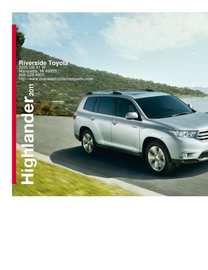 2011 Toyota Highlander For Sale In Marquette MI | Riverside Toyota