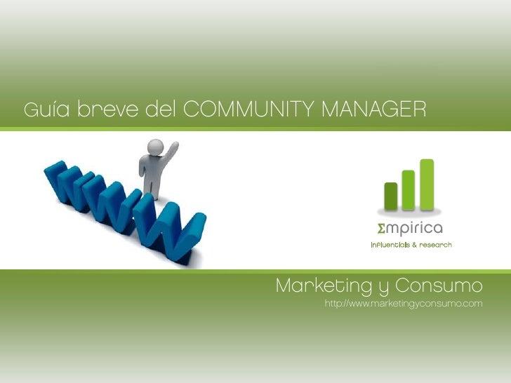 Guía breve del Community Manager