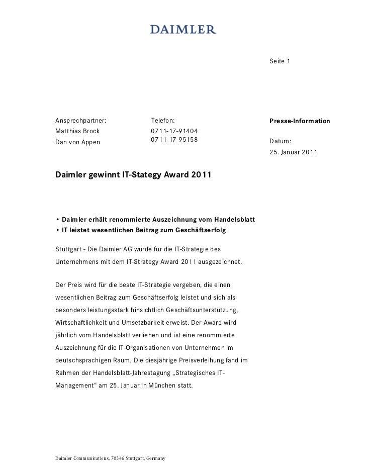 Seite 1Ansprechpartner:                         Telefon:                 Presse-InformationMatthias Brock                 ...
