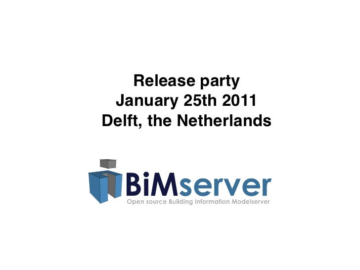 Release party January 25th 2011Delft, the Netherlands
