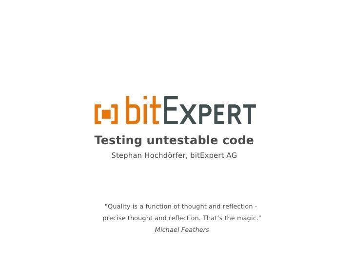 Testing untestable code - PHPBNL11