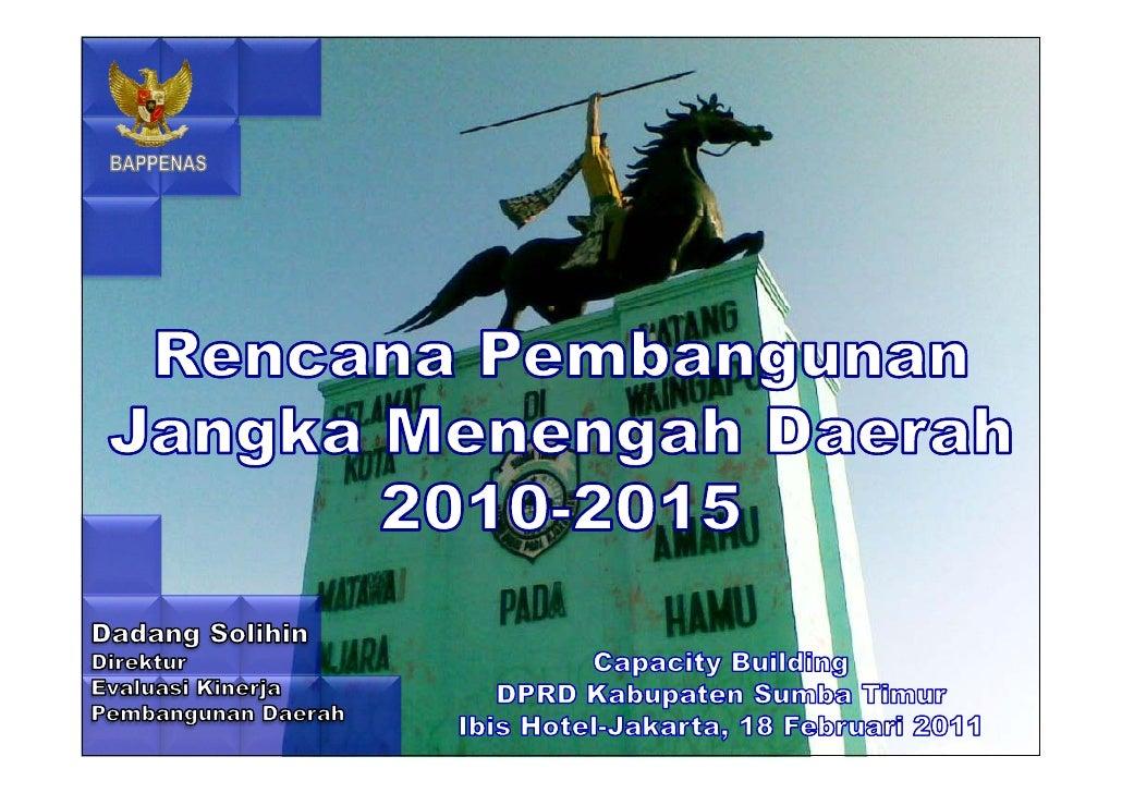 Rencana Pembangunan Jangka Menengah Daerah 2010-2015