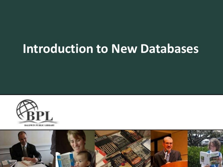 Introduction to New Databases