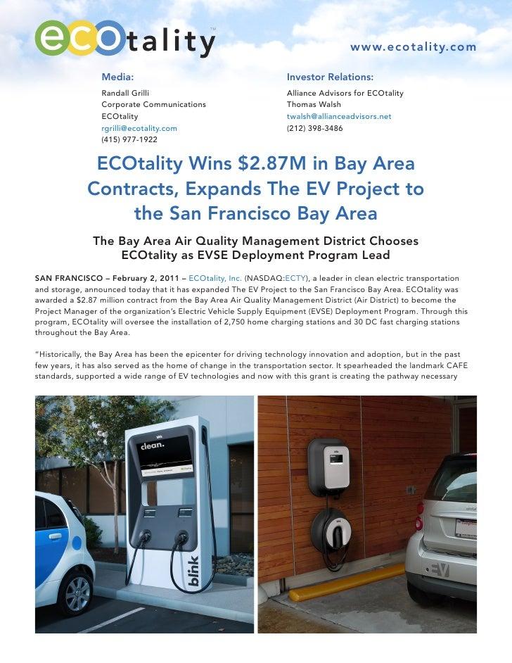 www.ecotality.com                 Media:                                           Investor Relations:                 Ran...