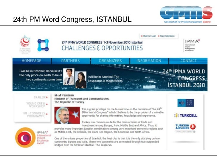 24th PM Word Congress, ISTANBUL <br />