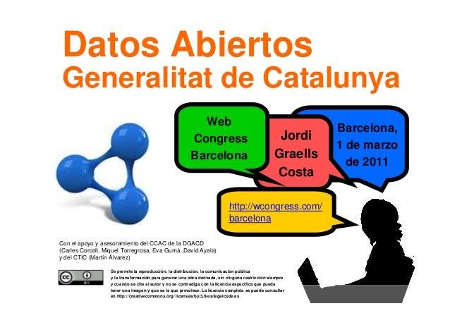 1 Barcelona, 1 de marzo de 2011 Se permite la reproducción, la distribución, la comunicación pública y la transformación p...