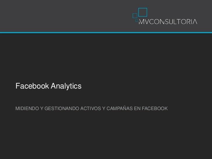 FacebookAnalytics<br />MIDIENDO Y GESTIONANDO ACTIVOS Y CAMPAÑAS EN FACEBOOK<br />