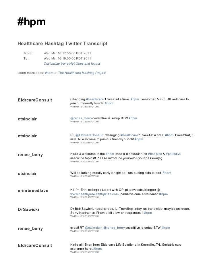 2011 03 16 hpm tweetchat transcript