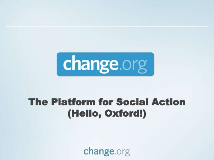 The Platform for Social Action(Hello, Oxford!)<br />