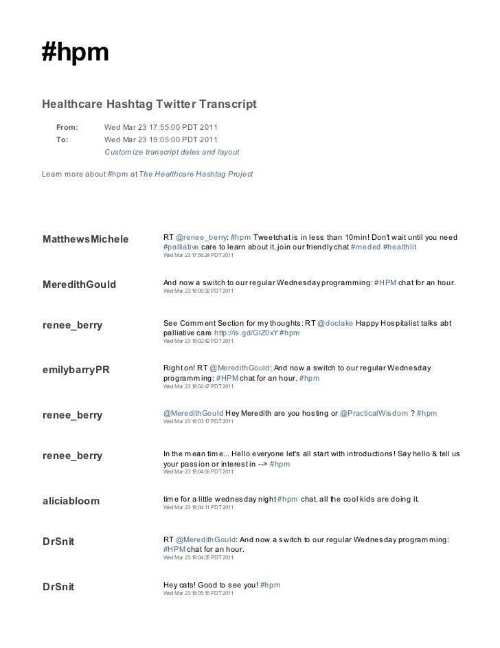 2011 03 23 hpm tweetchat transcript