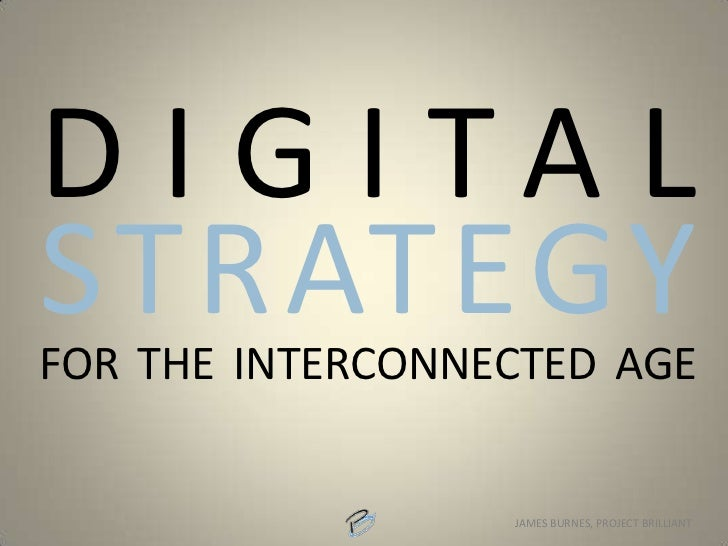 Connect. Compete. Digital Strategy for an Interconnected Age.