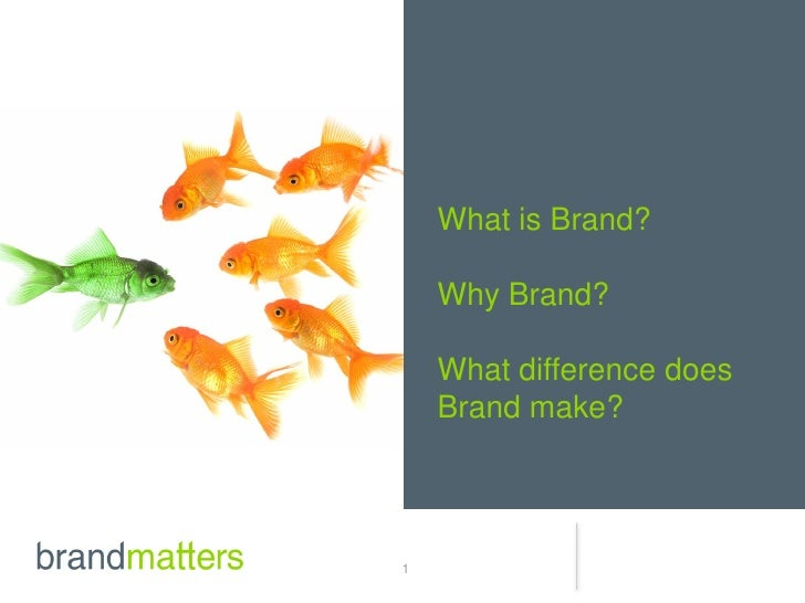 What is Brand?    Why Brand?    What difference does    Brand make?1