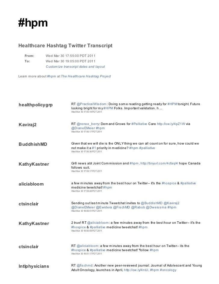 2011 03 30 hpm tweetchat transcript