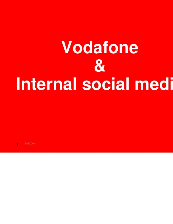 Vodafone          &Internal social media    SMC040   Joost Verbiesen1