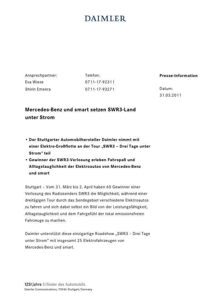 Ansprechpartner:                          Telefon:                     Presse-InformationEva Wiese                        ...