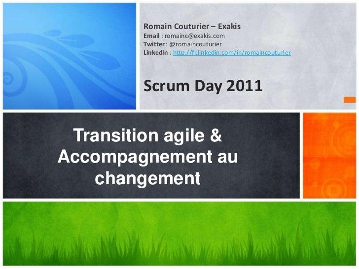 Transition agile & accompagnement au changement