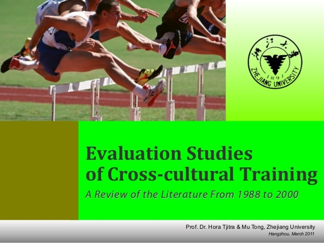 Evaluation Studies of Cultural Awareness Training