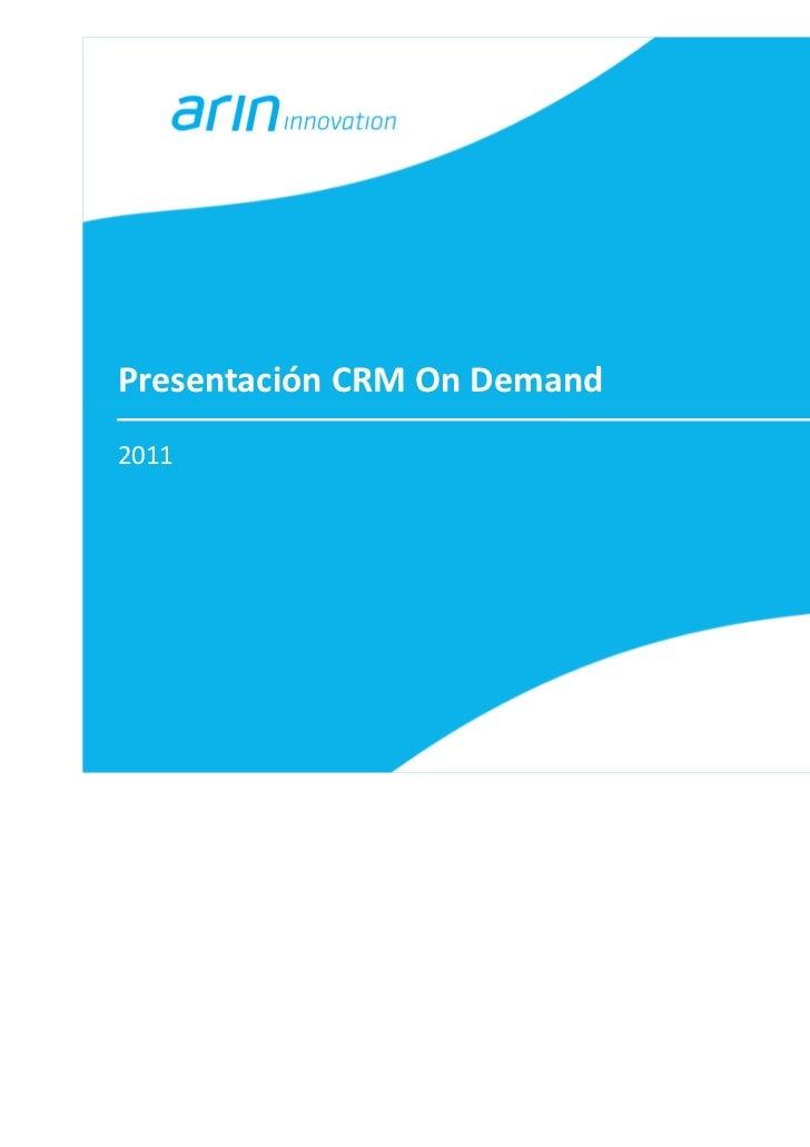 Presentación CRM On Demand2011