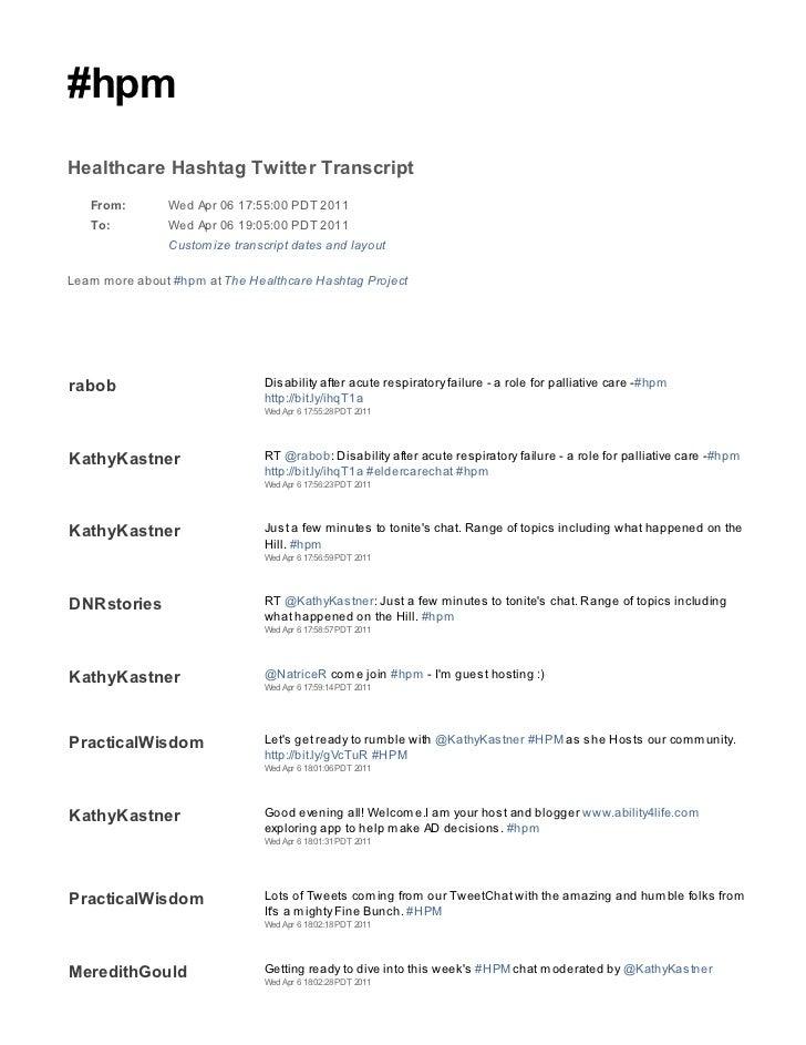 2011 04 06 hpm tweetchat transcript