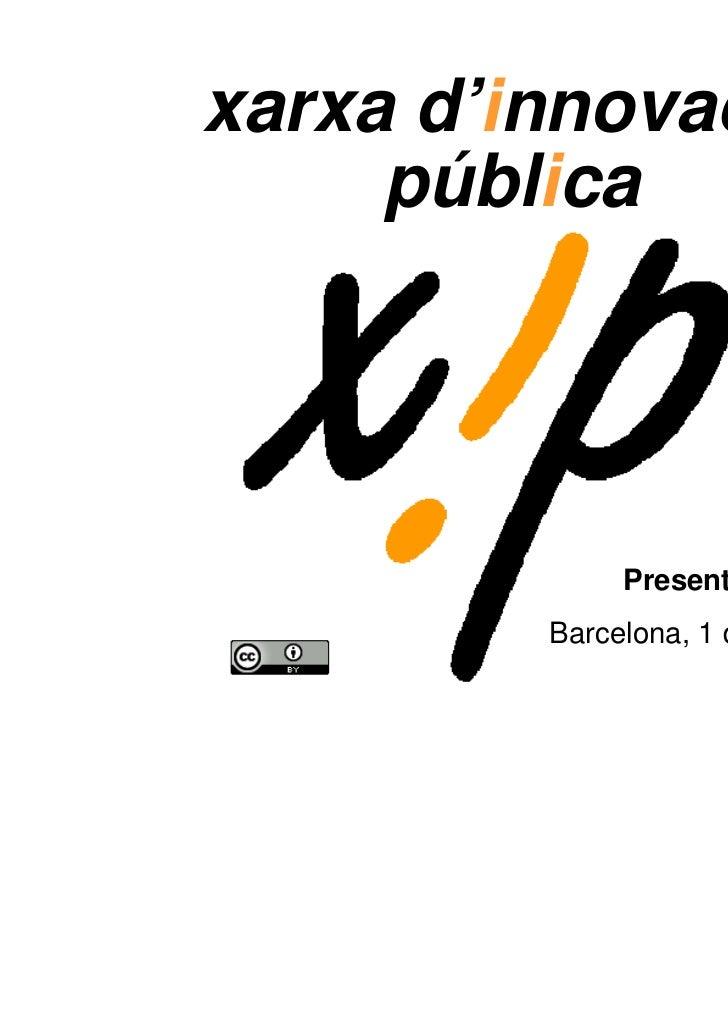 Xarxa d'Innovació Pública (XIP)